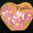 Bath Heart - Pink - Wooden Miniature