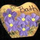 Bath Heart - Purple - Wooden Miniature
