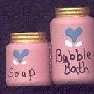Bath Bubbles Pink / Blue - Wooden Miniature
