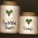 Bath Bubbles Cream / Green - Wooden Miniature
