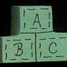 ABC Green Blocks - Wooden Miniature