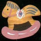 Rocking Horse - Pink - Wooden Miniature