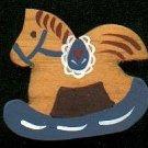Rocking Horse - Dark Blue - Wooden Miniature