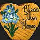 Bless This Home - Blue - Wooden Miniature