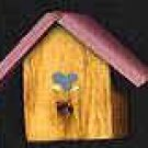 Bird House - Pink - Wooden Miniature