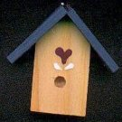 Bird House - Dark Blue - Wooden Miniature