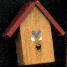 Bird House - Red - Wooden Miniature