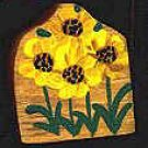 Sunflowers - Wooden Miniature