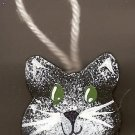 Hanging Cat - Black - Wooden Miniature