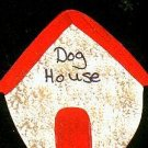 Dog House - Red - Wooden Miniature
