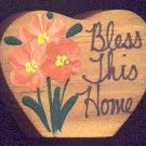 Bless This Home - Peach - Wooden Miniature