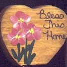 Bless This Home - Pink - Wooden Miniature