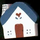 Cottage - Blue / Red - Wooden Miniature