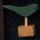 Bird - Dark Green - Wooden Miniature