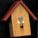 Bird House - Red - Wooden Miniature