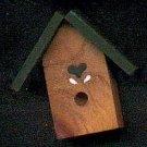 Bird House - Dark Green - Wooden Miniature