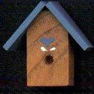 Bird House - Blue - Wooden Miniature