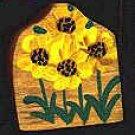 Sunflower - Wooden Miniature