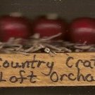 Country Crate Loft Apple Orchard Barrel - Wooden Miniature
