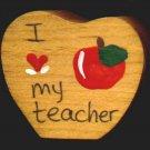 I Love My Teacher - School Wooden Miniature