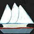 Sail Boat - Naultical / Sea Shell Wooden Miniature