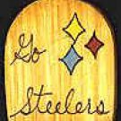 Go Steelers - NFL Football - Sports Wooden Miniature