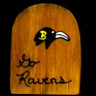 Go Ravens - NFL Football - Sports Wooden Miniature
