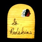 Go Redskins -  NFL Football- Sports Wooden Miniature
