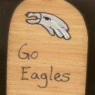 Go Philadelphia Eagles - NFL Football - Sports Wooden Miniature