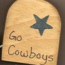 Go Dallas Cowboys - NFL Football - Sports Wooden Miniature
