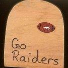 Go Raiders - NFL Football - Sports Wooden Miniature