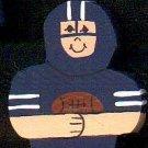 Blue Football Player - Sports Wooden Miniature