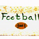 Football Sign - Sports Wooden Miniature