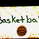 Basketball Sign - Sports Wooden Miniature