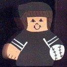 Baseball Player - Brown Hair - Black Jersey - Sports Wooden Miniature