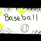Baseball Sign- Sports Wooden Miniature