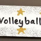 Volleyball Sign - Sports Wooden Miniature