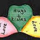 Candy Hearts - Valentine Wooden Miniature