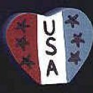 USA Heart - 4th of July / Patriotic / Liberty Wooden Miniature