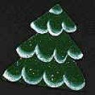Glitter Snow Pine Tree - Christmas Wooden Miniature