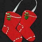 Stockings - Red - Christmas Wooden Miniature