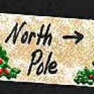 North Pole Sign - Christmas Wooden Miniature