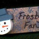 Frosty Fan - Blue - Christmas Wooden Miniature