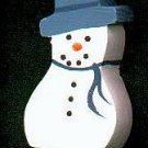 Snoman - Blue - Christmas Wooden Miniature