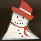 Melty Snoman - Red - Christmas Wooden Miniature