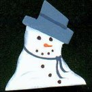 Melty Snoman - Blue - Christmas Wooden Miniature