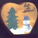 Let it Snow - Blue - Christmas Wooden Miniature