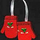 Hanging Mittens - Red - Christmas Wooden Miniatures