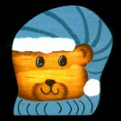 Bear - Blue Hat - Christmas Wooden Miniatures