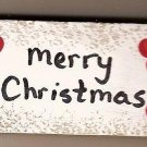 Merry Christmas Sign - Wooden Miniatures